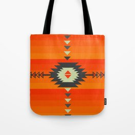 Southwestern in orange and red Tote Bag