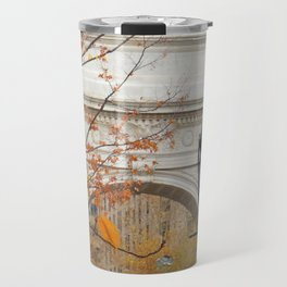 Fall in Washington Square Park, NYC Travel Mug