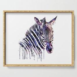 Zebra Head Serving Tray