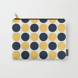 navy and yellow dots Carry-All Pouch