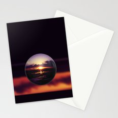 Float on the clouds like a drop of dew and bask in the light of a sunrise view Stationery Cards