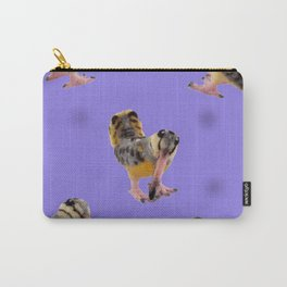 Purple Polka-Dotted Peents Carry-All Pouch