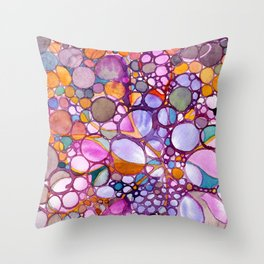 Drops and Bubbles Throw Pillow