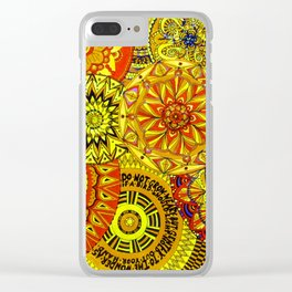 Mandala Life-explosion Clear iPhone Case