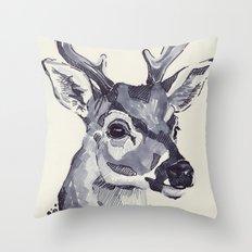 Deer Sketch Throw Pillow