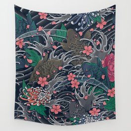 Blossom Blizzard Wall Tapestry