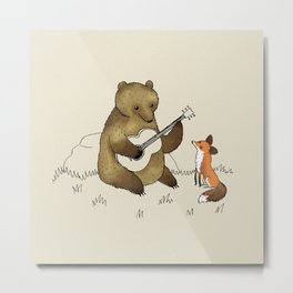 Bear & Fox Metal Print