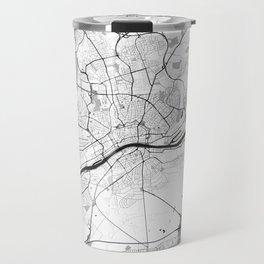 Frankfurt City Map Gray Travel Mug