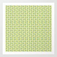 Green and Yellow Shells Art Print