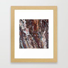 Blood Marble Framed Art Print