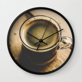 Vintage Retro Photography of Coffee Cup Wall Clock
