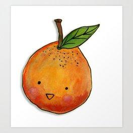 Cutie Orange Head Art Print