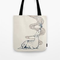 huebucket Tote Bags featuring Pacifier by Huebucket