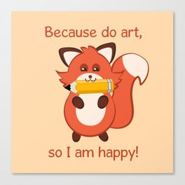 Commisions | foxy artist Canvas Print