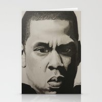 jay z Stationery Cards featuring Jay Z by Leonidas The King
