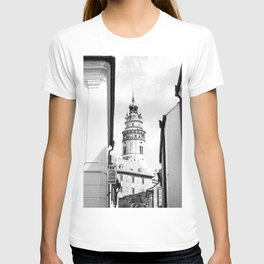 City of Croatia | Zagreb Simple Black and White Old World Medieval Architecture Beauty T-shirt