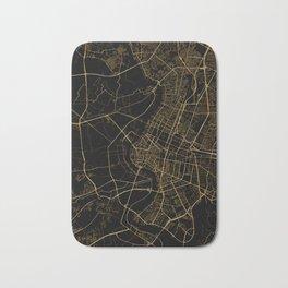 Black and gold Bangkok map Bath Mat