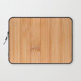 Cool elegant light brown bamboo wood print Laptop Sleeve