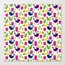 Tropical Toucans Canvas Print