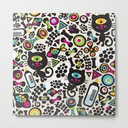 Black cats. Metal Print