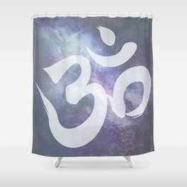 OM: Expanse of Universe Shower Curtain