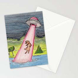 Otter Abduction Stationery Cards