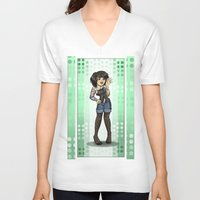 charlie V-neck T-shirts featuring Charlie by Thedustyphoenix