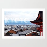 View over Kyoto Art Print