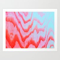 Wooden resonance Art Print