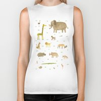 african Biker Tanks featuring African Animals by Sophie Corrigan