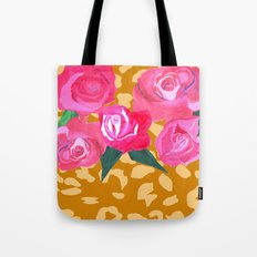Floral and Tiger Print Tote Bag