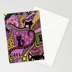 Black Cat Mischief Stationery Cards