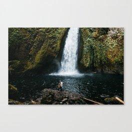 Waterfall Wanderers Canvas Print