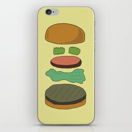 Burger Assembly iPhone Skin