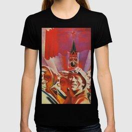 Labour communist propaganda in soviet union cccp sssr T-shirt