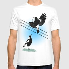 Magpies: learn to fly Mens Fitted Tee White MEDIUM