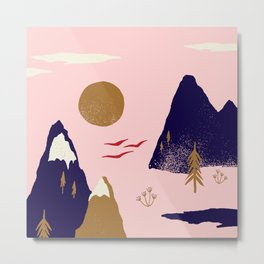 Mountain Scape Metal Print
