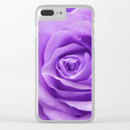 Violet roses Clear iPhone Case