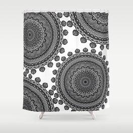 Mandala Black&White Shower Curtain