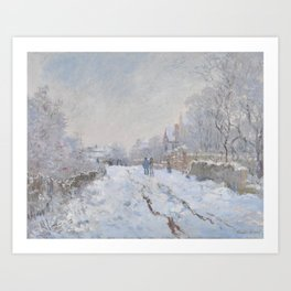 Snow Scene at Argenteuil Art Print