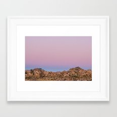 Desert Sunset Framed Art Print
