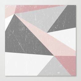 Grunge Geometric Retro Pattern Canvas Print