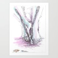 feet Art Prints featuring Feet by Pedro Fraga