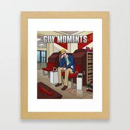 Shoe shopping Framed Art Print
