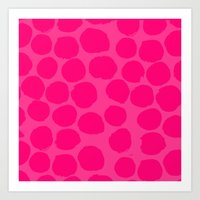 Art Print featuring polka dot painting by Compassion and Chaos
