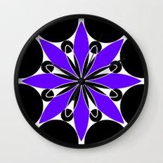 Purple Flower Wall Clock