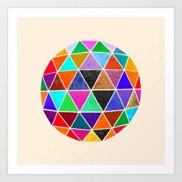 Geodesic V Art Print