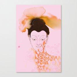 Pink Gautama Buddha Canvas Print