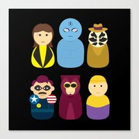 watchmen Canvas Prints featuring Watchmen by PinkRadish