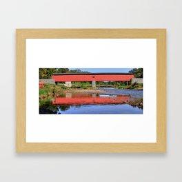 Pine Grove Bridge Framed Art Print